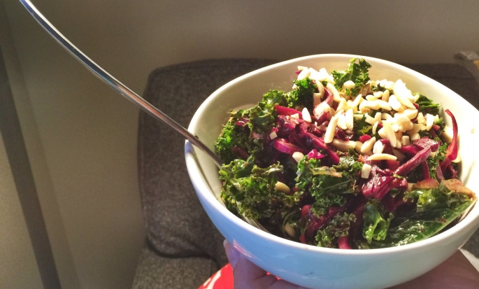 Kale Red Cabbage Salad