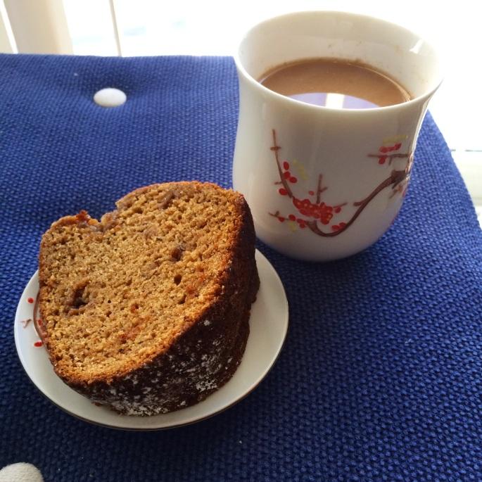 vegan spice cake and chai saladforbreakfast